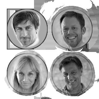 Von links oben: Dr. Cetin, Dr. Rüger, Dr. Inge Bauerdorf, Dr. Roland Bauerdorf